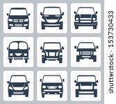 vector van icons set  front view | Shutterstock .eps vector #153730433