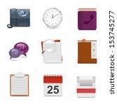 universal office vector icon set | Shutterstock .eps vector #153745277