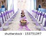 table set for wedding or... | Shutterstock . vector #153751397