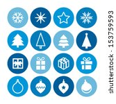 christmas decorative symbols... | Shutterstock .eps vector #153759593