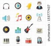 music icons | Shutterstock .eps vector #153777437