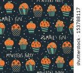 vector halloween seamless... | Shutterstock .eps vector #153788117