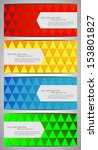 colorful set of banners with... | Shutterstock .eps vector #153801827