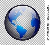 transparent globe | Shutterstock .eps vector #153802253