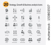 strategy growth   business... | Shutterstock .eps vector #153803537