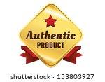 high quality golden badge | Shutterstock .eps vector #153803927