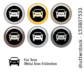car icon metal icon set | Shutterstock .eps vector #153807533