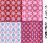 set of 4 seamless pattern with... | Shutterstock .eps vector #153823727