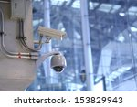 cctv cameras in the airport. | Shutterstock . vector #153829943