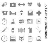 health icons on white... | Shutterstock .eps vector #153845177