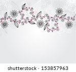 elegant floral invitation for... | Shutterstock . vector #153857963