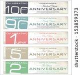 anniversary retro banner  set   Shutterstock .eps vector #153859373