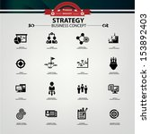 strategy business concept icons ... | Shutterstock .eps vector #153892403