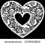 illustration of embroidery lace ... | Shutterstock .eps vector #153904853