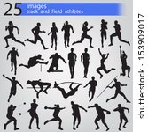 25 images track and field... | Shutterstock .eps vector #153909017