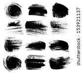 textured strokes drawn a flat... | Shutterstock .eps vector #153921137