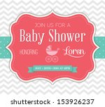 baby shower invitation | Shutterstock .eps vector #153926237