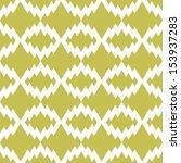retro ikat tribal zigzag...   Shutterstock .eps vector #153937283