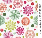colorful snowflakes seamless...   Shutterstock .eps vector #153942203