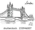 tower bridge  london  england ... | Shutterstock .eps vector #153946007