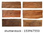 wood plank  isolated on white... | Shutterstock . vector #153967553