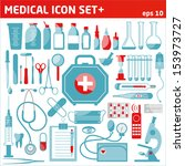 medical icon set. | Shutterstock .eps vector #153973727