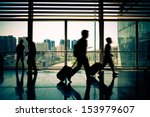 airport channel walking tourists | Shutterstock . vector #153979607