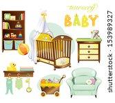 nursery baby | Shutterstock .eps vector #153989327