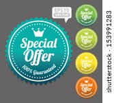 special offer sticker and tag...