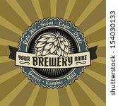 retro styled label of beer.... | Shutterstock .eps vector #154030133