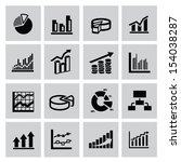 vector black business graph... | Shutterstock .eps vector #154038287