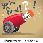 corporate guy gets fired   | Shutterstock .eps vector #154055753