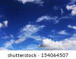 White Clouds In A Dark Blue Sky