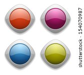 colorful website button... | Shutterstock .eps vector #154070987
