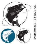 the figure shows fish bass   Shutterstock .eps vector #154078733