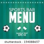 football   sports bar menu card ... | Shutterstock .eps vector #154088657