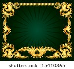 the indian gold ornament   Shutterstock .eps vector #15410365