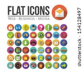 set of icons for web  business...