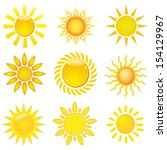 collection of suns | Shutterstock .eps vector #154129967