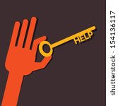 help key in hand stock vector | Shutterstock .eps vector #154136117