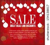 christmas design over red... | Shutterstock .eps vector #154138817