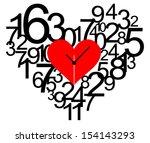 creative clock heart design.