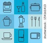kitchen icons | Shutterstock .eps vector #154161413