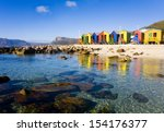 st james beach with colourful... | Shutterstock . vector #154176377