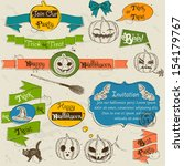 set of vintage deign elements... | Shutterstock .eps vector #154179767