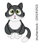 tuxedo cat cartoon | Shutterstock .eps vector #154191923