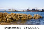 kalk bay harbour with colourful ... | Shutterstock . vector #154208273
