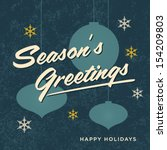 seasons greetings card retro... | Shutterstock .eps vector #154209803