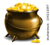 Old Pot With Gold Coin
