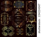vector set  calligraphic design ...   Shutterstock .eps vector #154224347